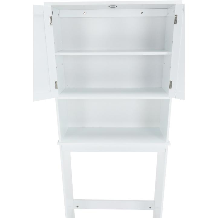 Skrinka nad WC, biela, ATENE TYP 5, otvorené dvierka