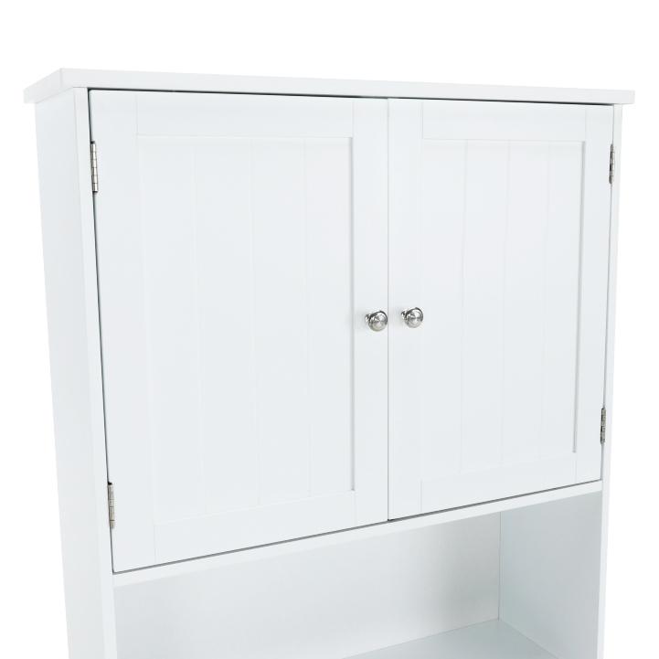Skrinka nad WC, biela, ATENE TYP 5, úložný priestor