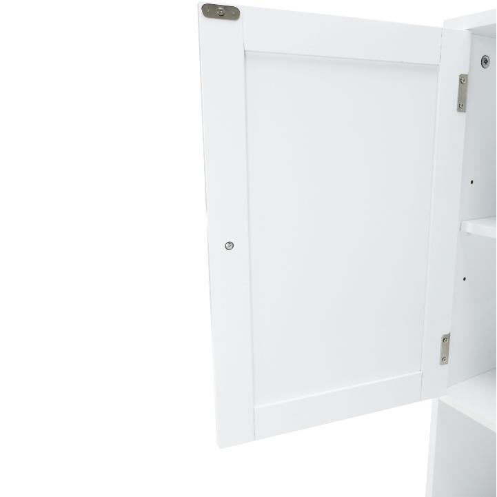 Skrinka nad WC, biela, ATENE TYP 5, detail dvierok