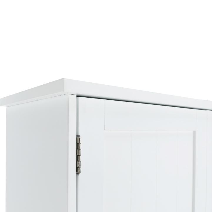 Skrinka nad WC, biela, ATENE TYP 5, detail hornej lišty