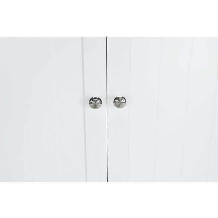 Skrinka nad WC, biela, ATENE TYP 5, detail na úchyty