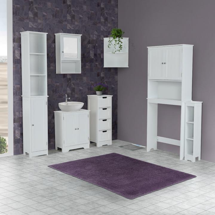 Skrinka nad WC, biela, ATENE TYP 5, interier