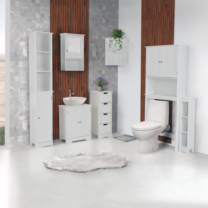 Skrinka nad WC, biela, ATENE TYP 5, interierová fotografia