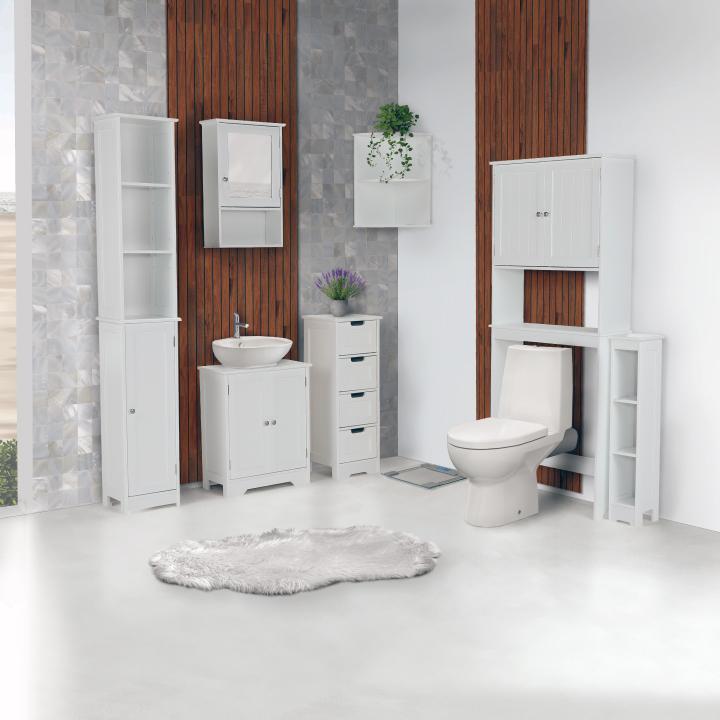4-šuplíková komoda, biela, ATENE TYP 7, interiér