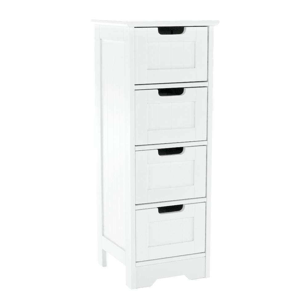 Comodă cu 4-sertare, alb, ATENE TIPUL 7