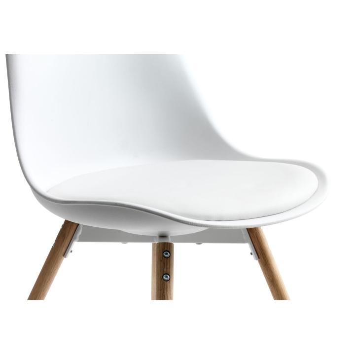 Stolička, biela/buk, SEMER NEW, detail