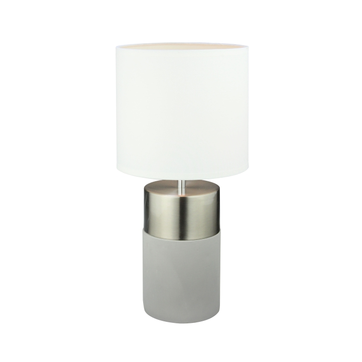 Stolná lampa, svetlosivá/biela, QENNY TYP 19 LT8371