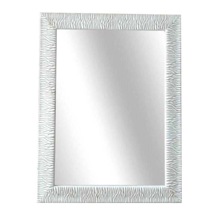 Zrkadlo, drevený rám, bielozlatá, na bielom pozadí, MALKIA TYP 14