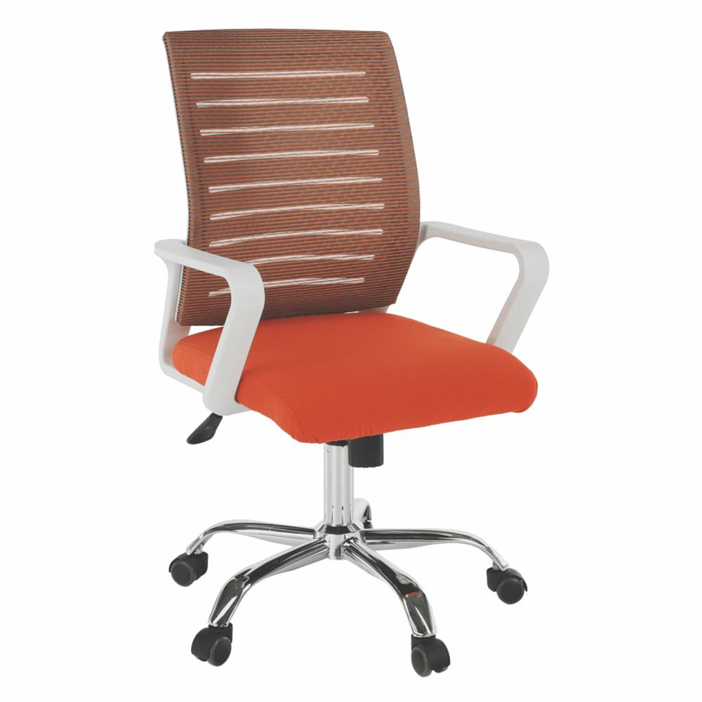 Irodai szék, fehér/narancssárga, CAGE