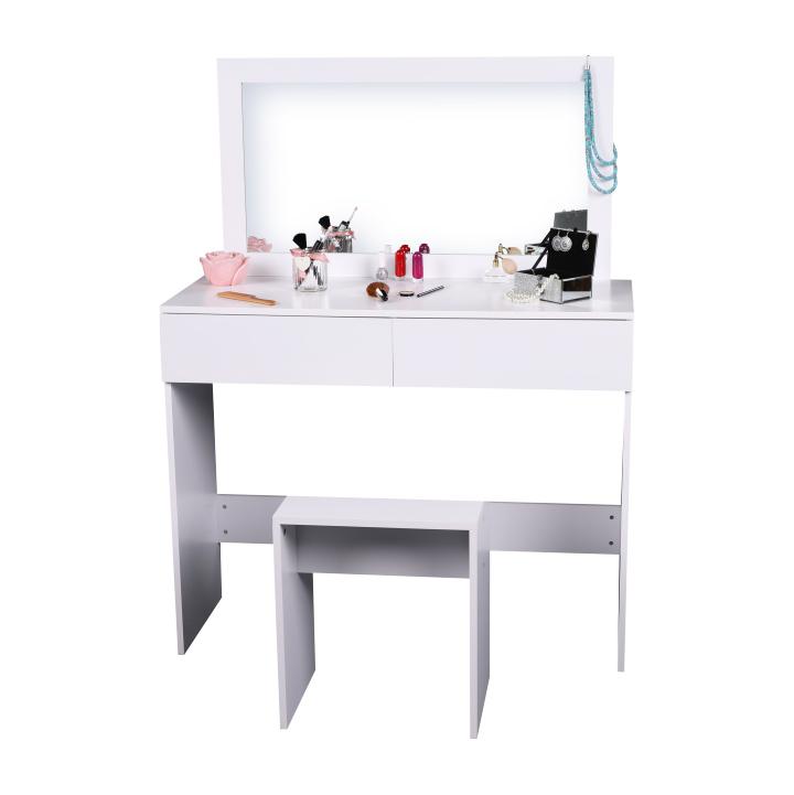 Fésülködőasztal, sminkasztal, fehér, LILIEN