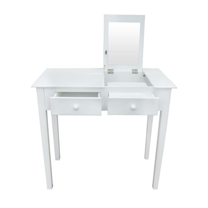 Toaletný stolík, toaletka, biela, LUZIA, na bielom pozadí
