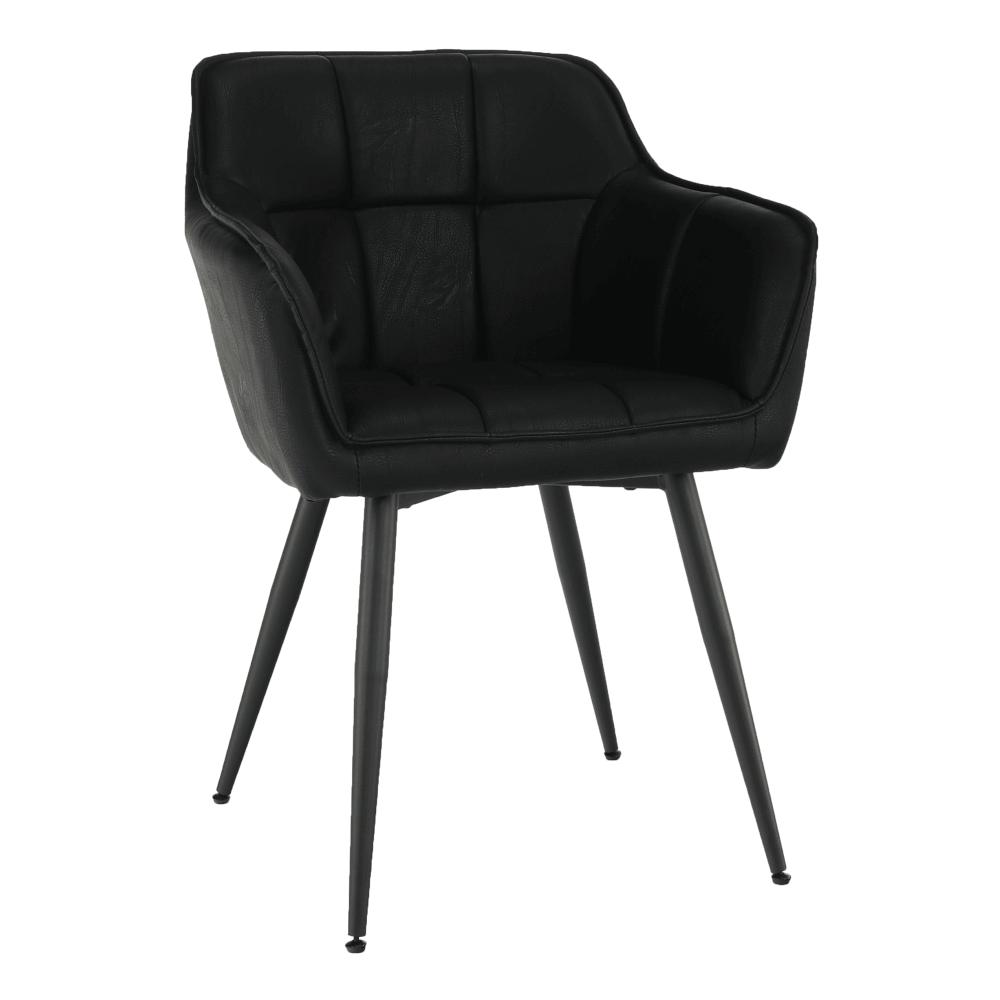 Dizájnos fotel, fekete, TOPAZ