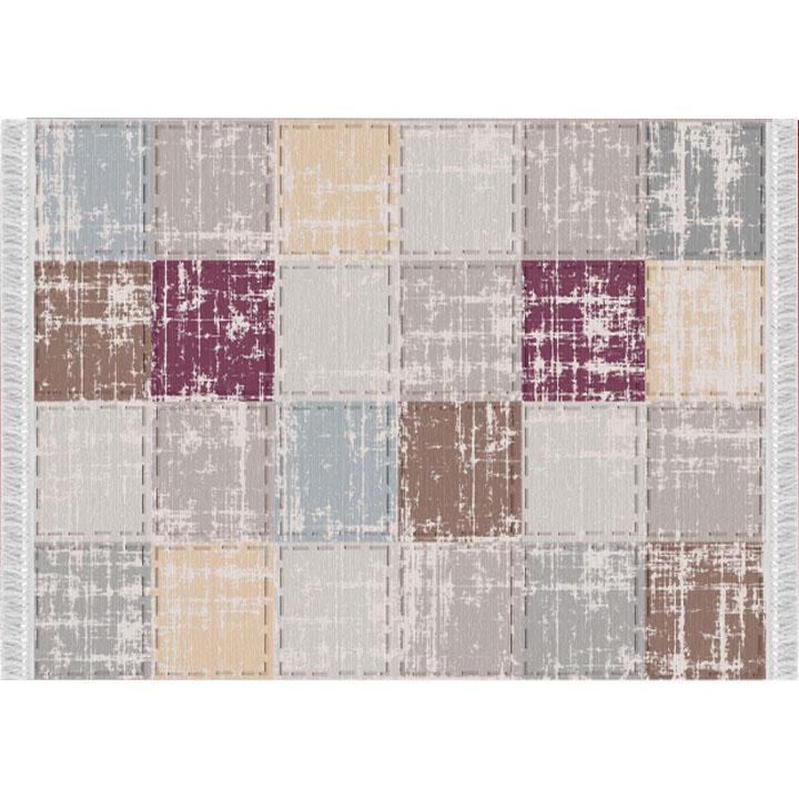 Koberec, viacfarebný-vzor štvorec, 80x150, FIRBI
