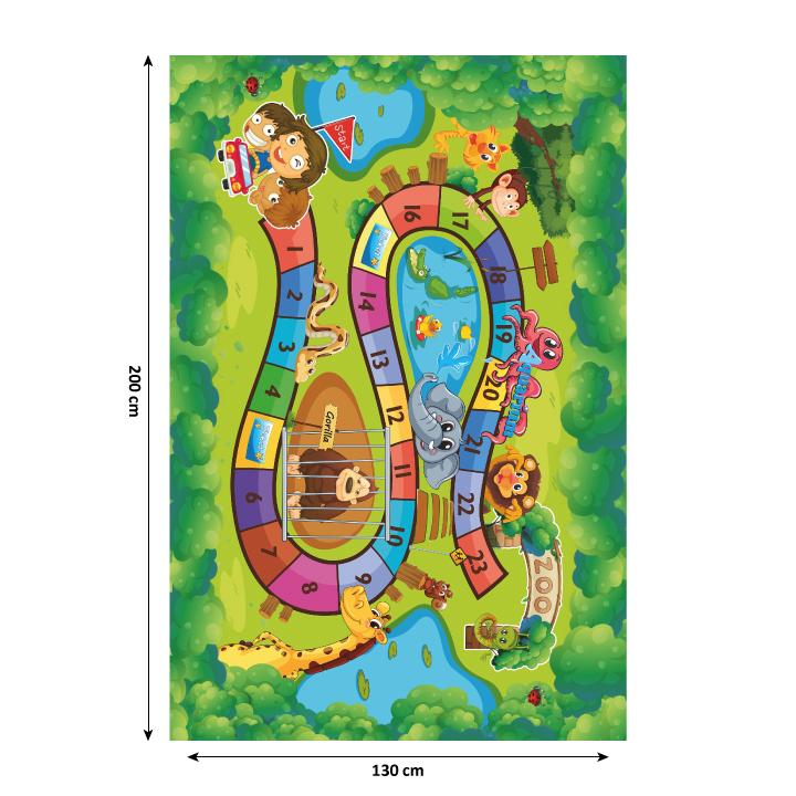 Koberec, detský vzor ZOO, 130x200, ZOAN - fotka interiér