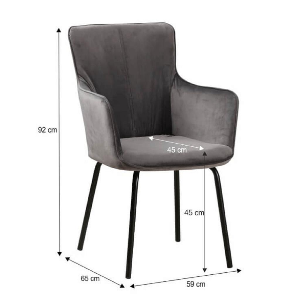 Fotoliu de design, gri catifelat/negru, VETAR