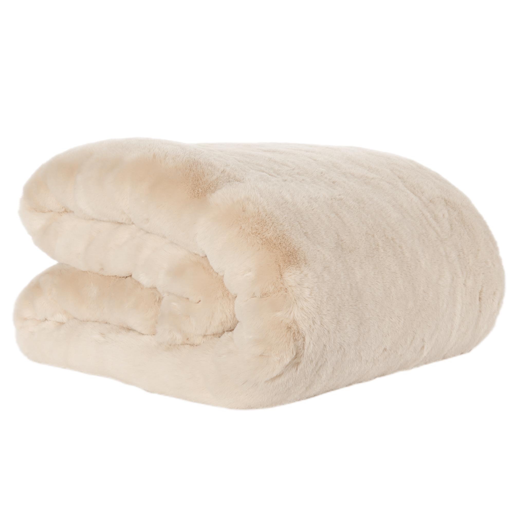 Pătură de blană, bej, 150x180, RABITA NEW TYP 2