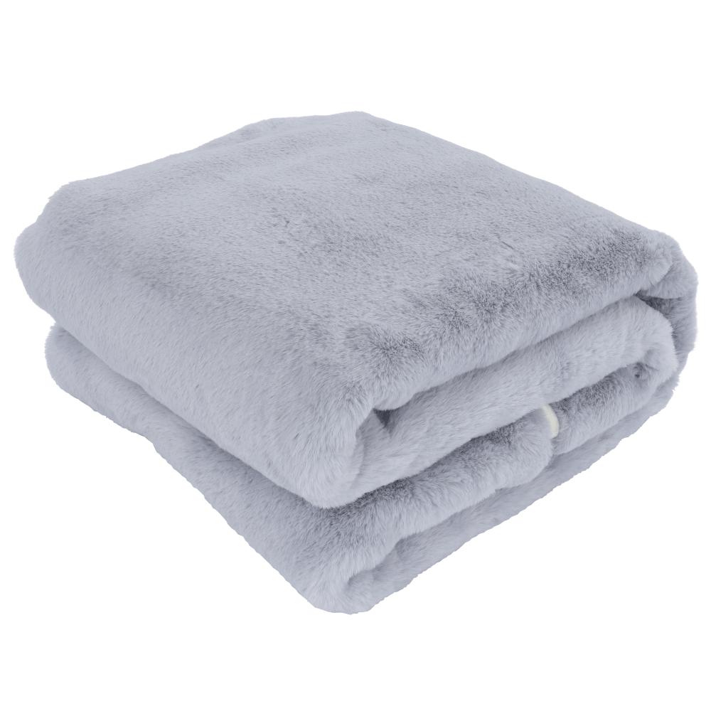 Pătură de blană, gri deschis, 150x180, RABITA NEW TYP 9