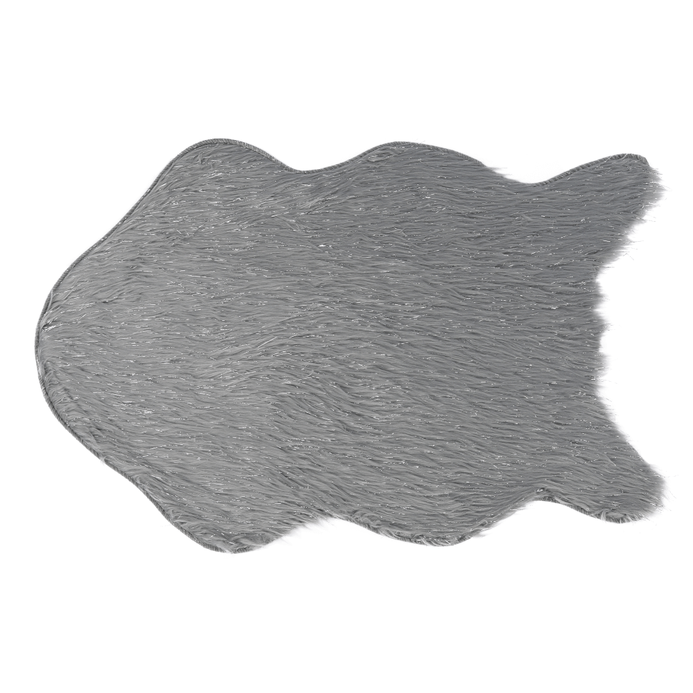Blană artificială, gri/argint, 60x90, FOX TYP 2
