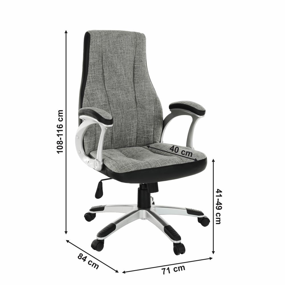 Irodai szék, szürke/fekete, TIMUR NEW