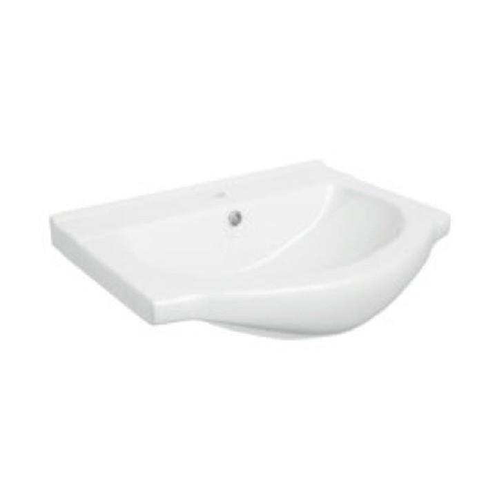 Skrinka s umývadlom, biela, KAROTA D50 - fotka na  bielom pozadí