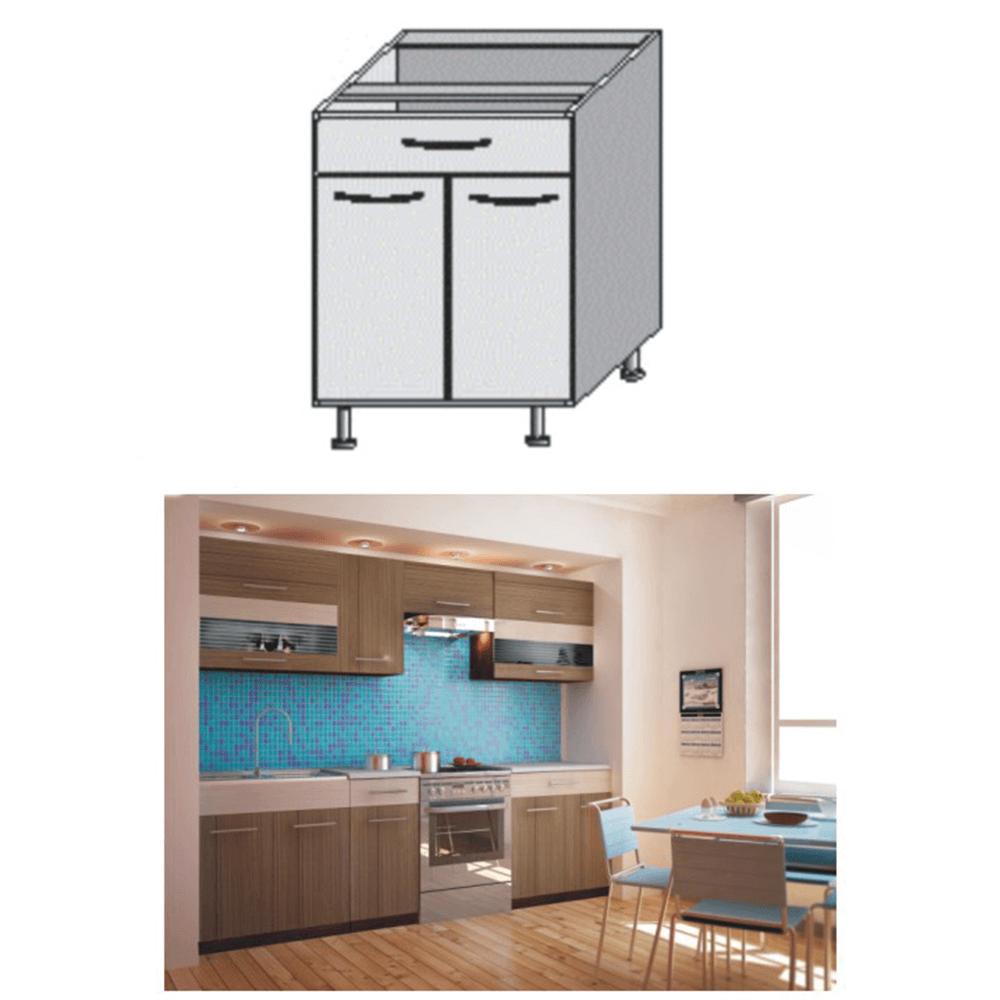 Dulap bucătărie, rigoleto dark+light/wenge, JURA NEW I D-80 S1