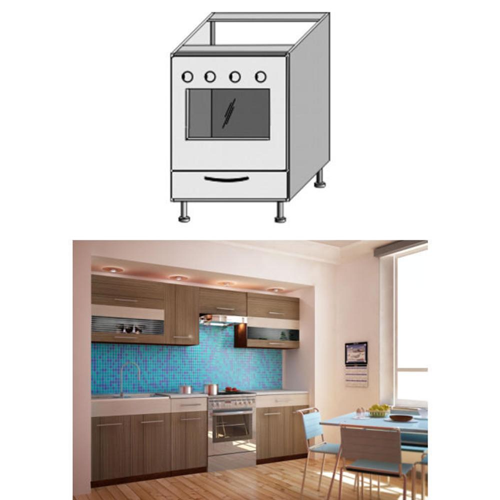 Dulap bucătărie pentru aragaz, rigoleto dark+light/wenge JURA NEW I ZK-60 K1
