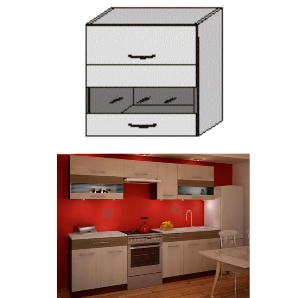 Dulap bucătărie, rigoleto dark+light/wenge, JURA IA OGW1-80
