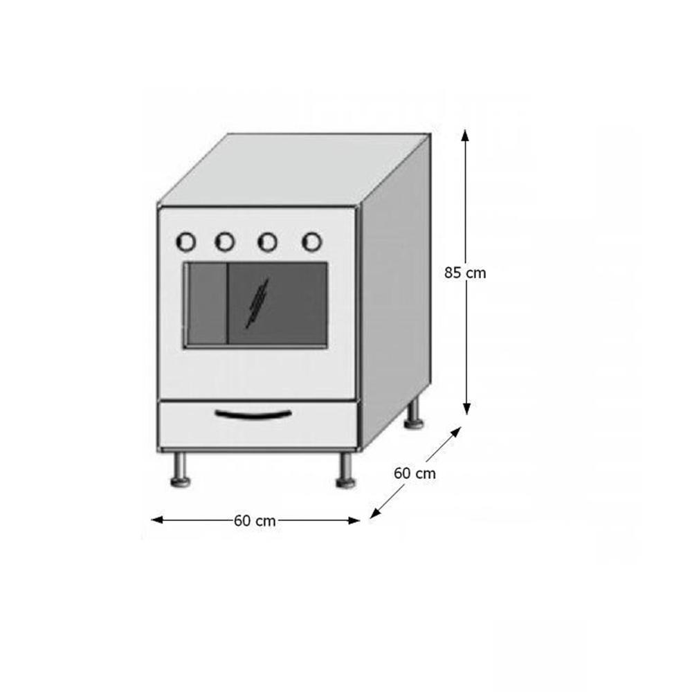 Dulap bucătărie pentru aragaz, rigoleto dark+light/wenge, JURA NEW IA ZK-60