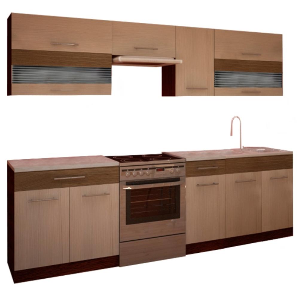 Mobilier de bucătărie, rigolletto light/dark, wenge, JURA NEW IA 2,6M