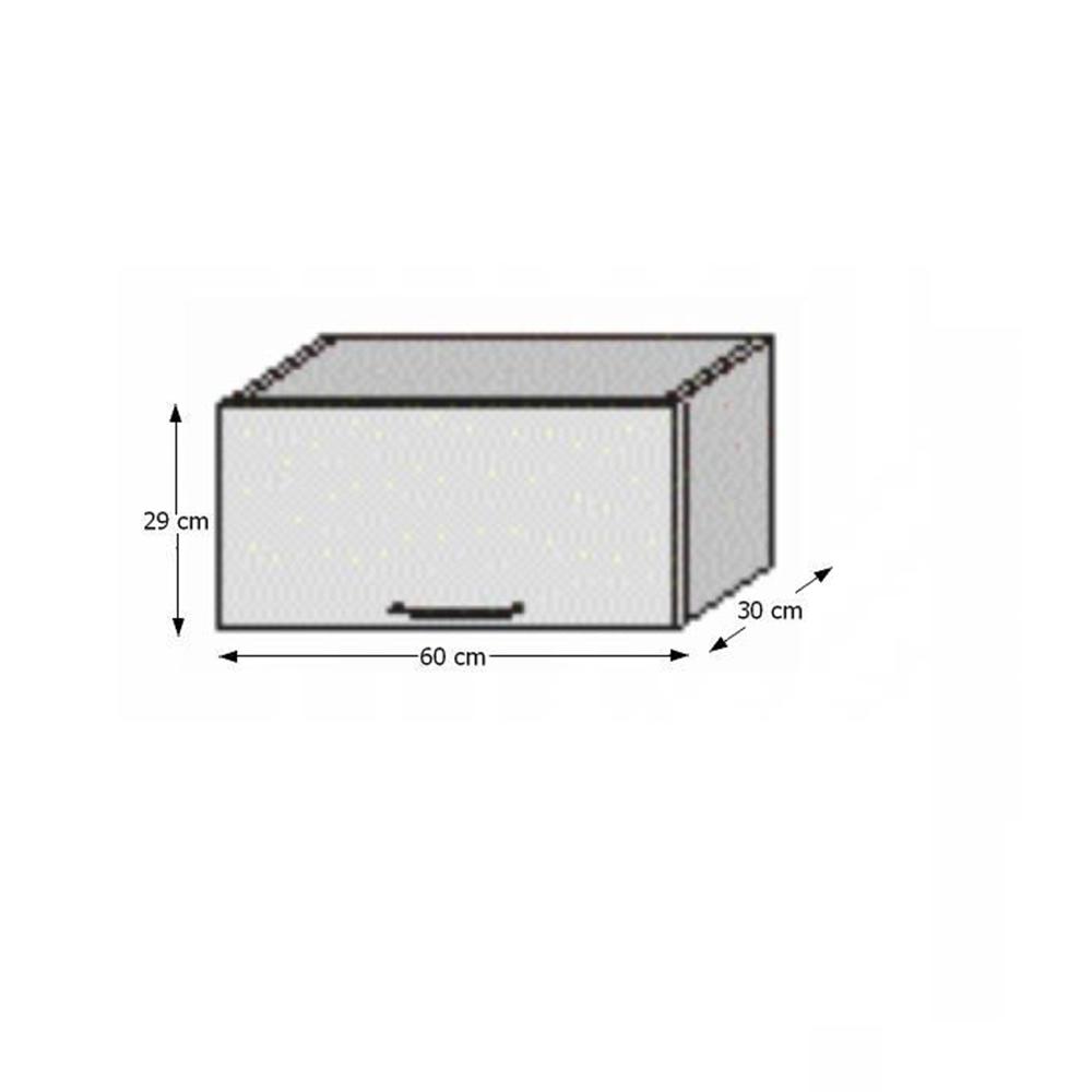 Felső szekrény, fehér/wenge, JURA NEW B OG-60