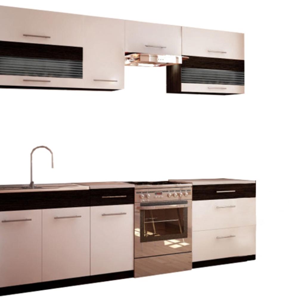 Mobilier de bucătărie, alb/wenge, JURA NEW B ZS 2,6m