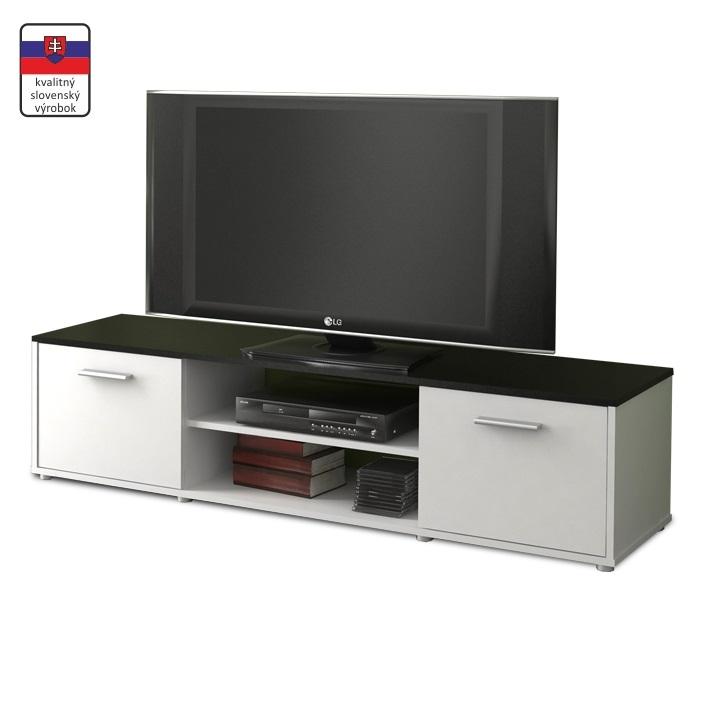 TV stolík, biela/čierna, ZUNO NEW 01, vrátený tovar