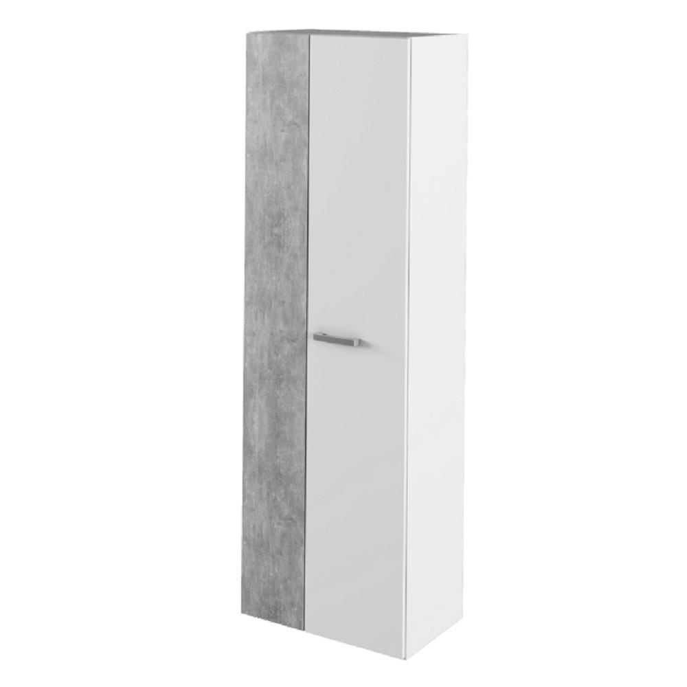 Szekrény, fehér/beton, SIMA