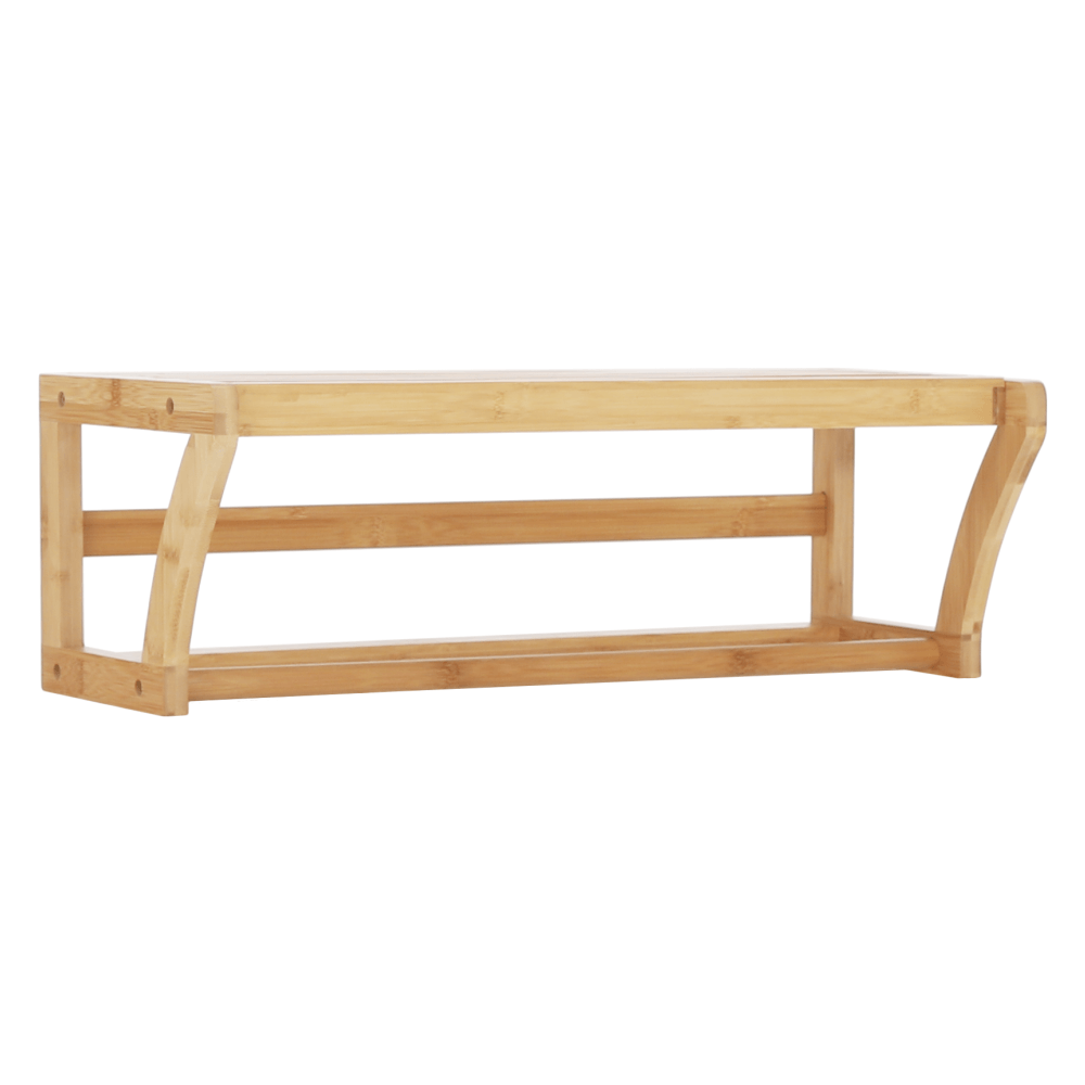 Raft cu bară de haine, bambus natural, LELA TYPUL 1