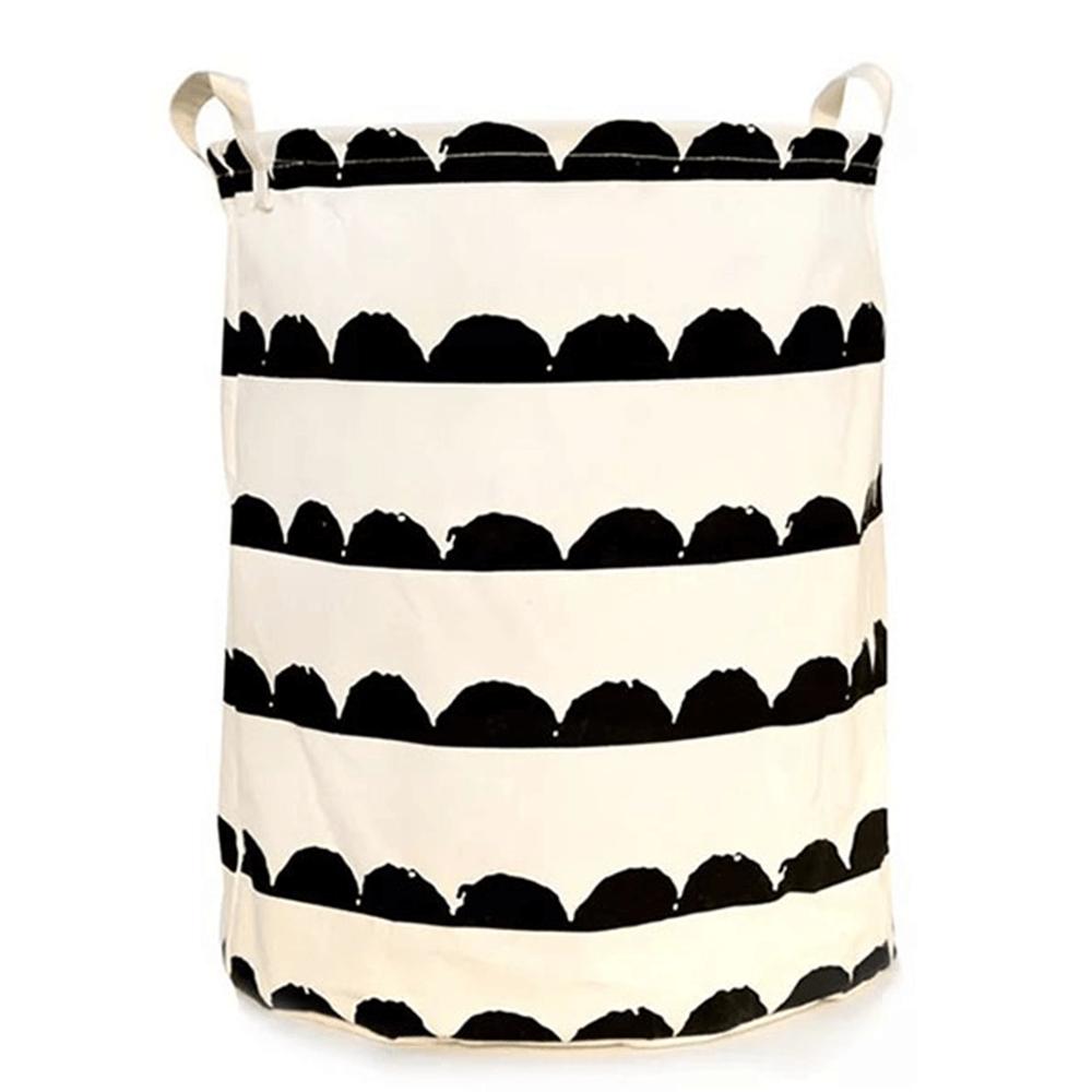 Coş de rufe, alb/model negru, PLEJO TIPUL 2