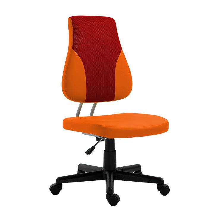 Randal, kanc.stolicka, ekokoža červena+oranžova