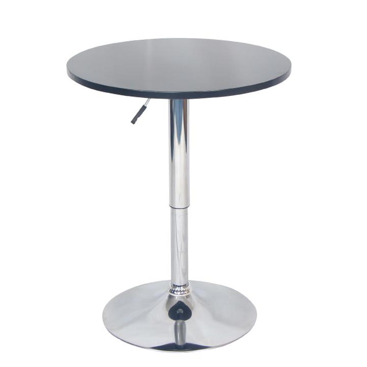Barový stôl s nastaviteľnou výškou, čierna, BRANY New