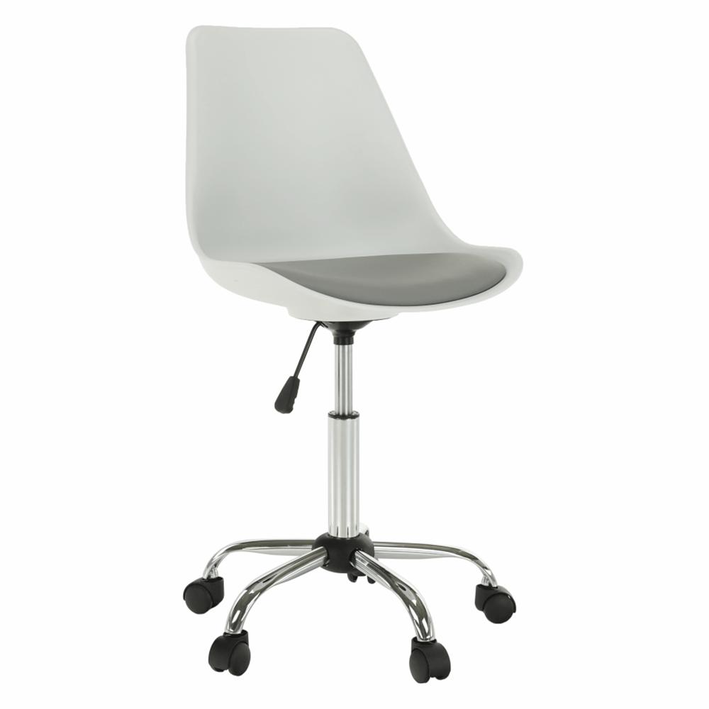 Irodai szék, fehér/szürke, DARISA