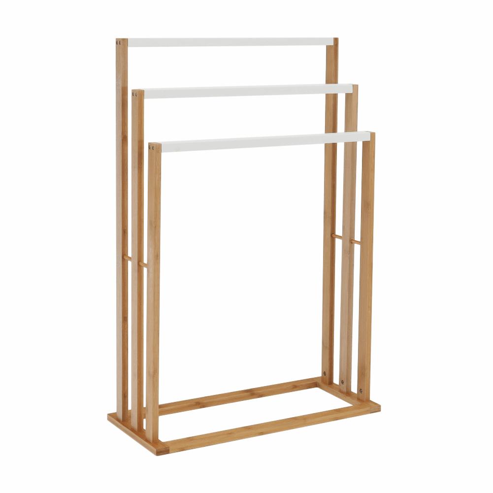 Stand pt. prosoape, bambus/alb, KOMO NEW