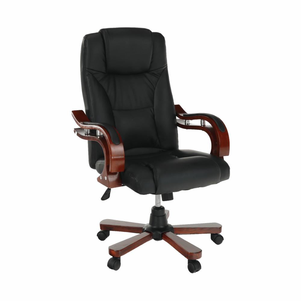 Irodai szék, fekete textilbőr/cseresznye, PAULOS