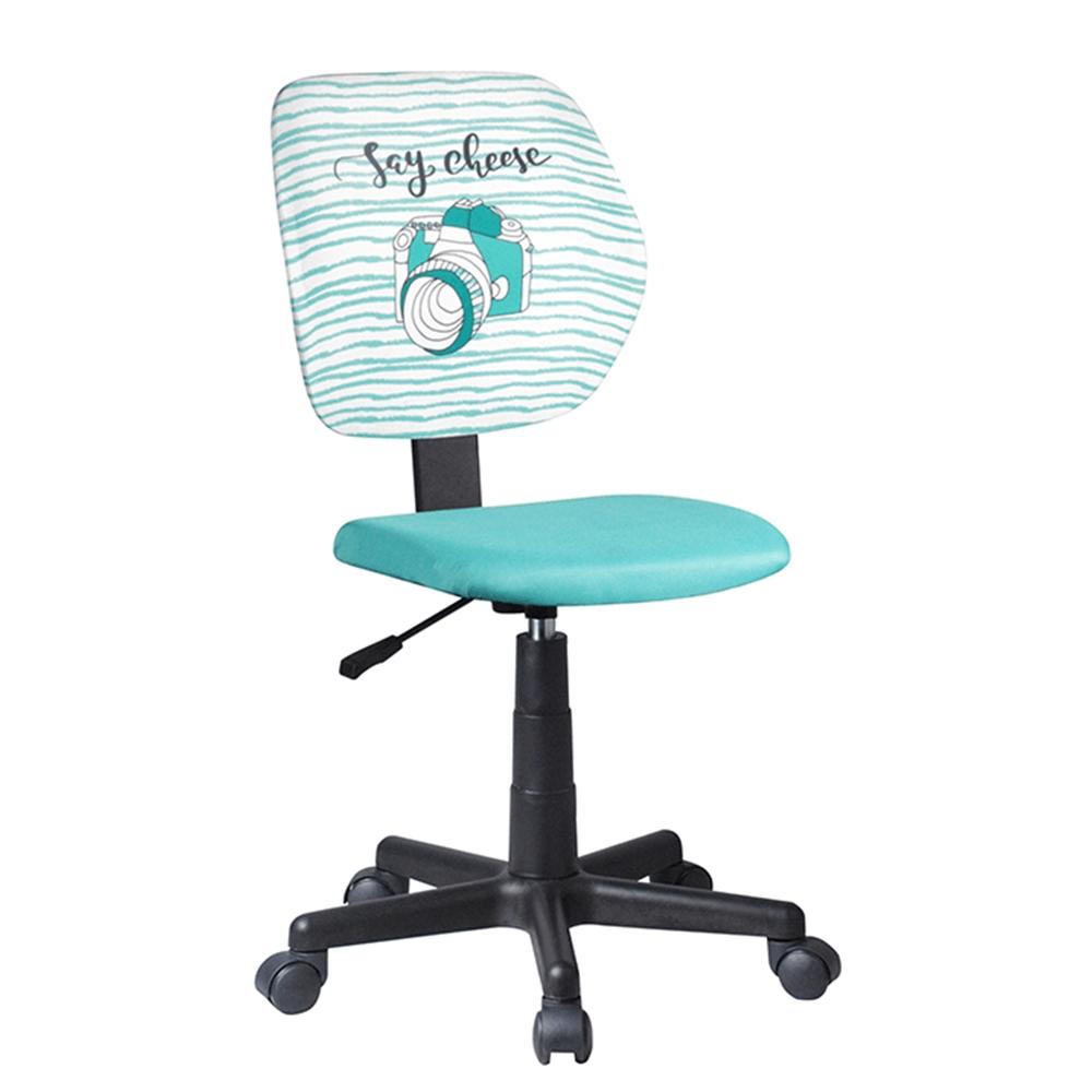 Otočná stolička, látka vzor/mentolová, BLUES