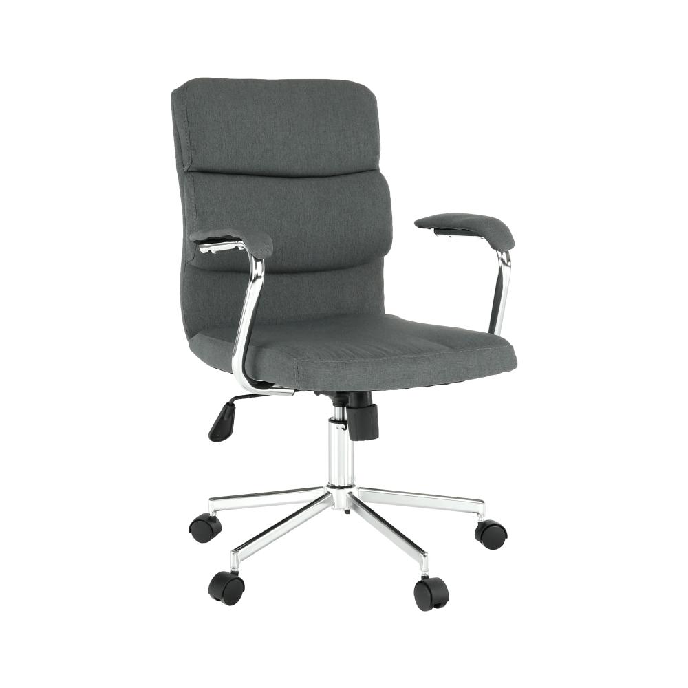 Irodai szék, szürke/króm, DARLOS