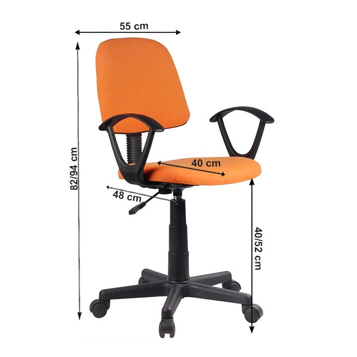 Kancelárska stolička, oranžová/čierna, TAMSON, s rozmermi
