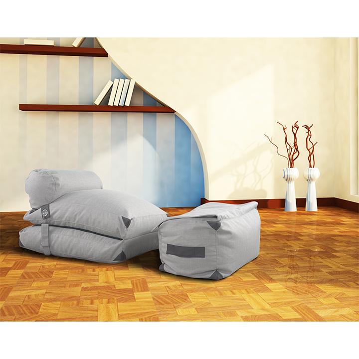 Dizajnové kreslo, svetlo siva, VESPER, interier