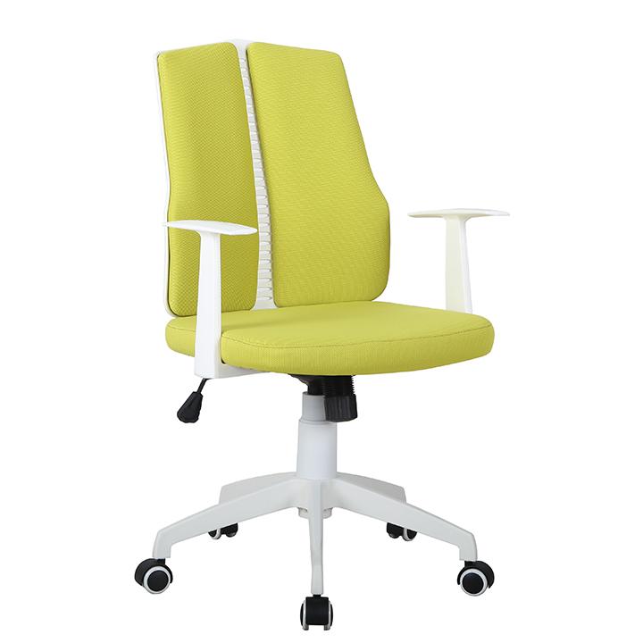 Kancelárske kreslo, zelená/biela, DELANO