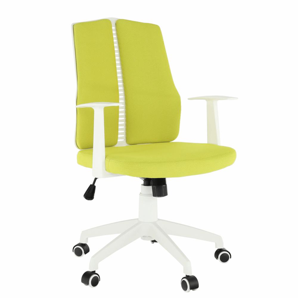 Irodai szék, zöld/fehér, DELANO