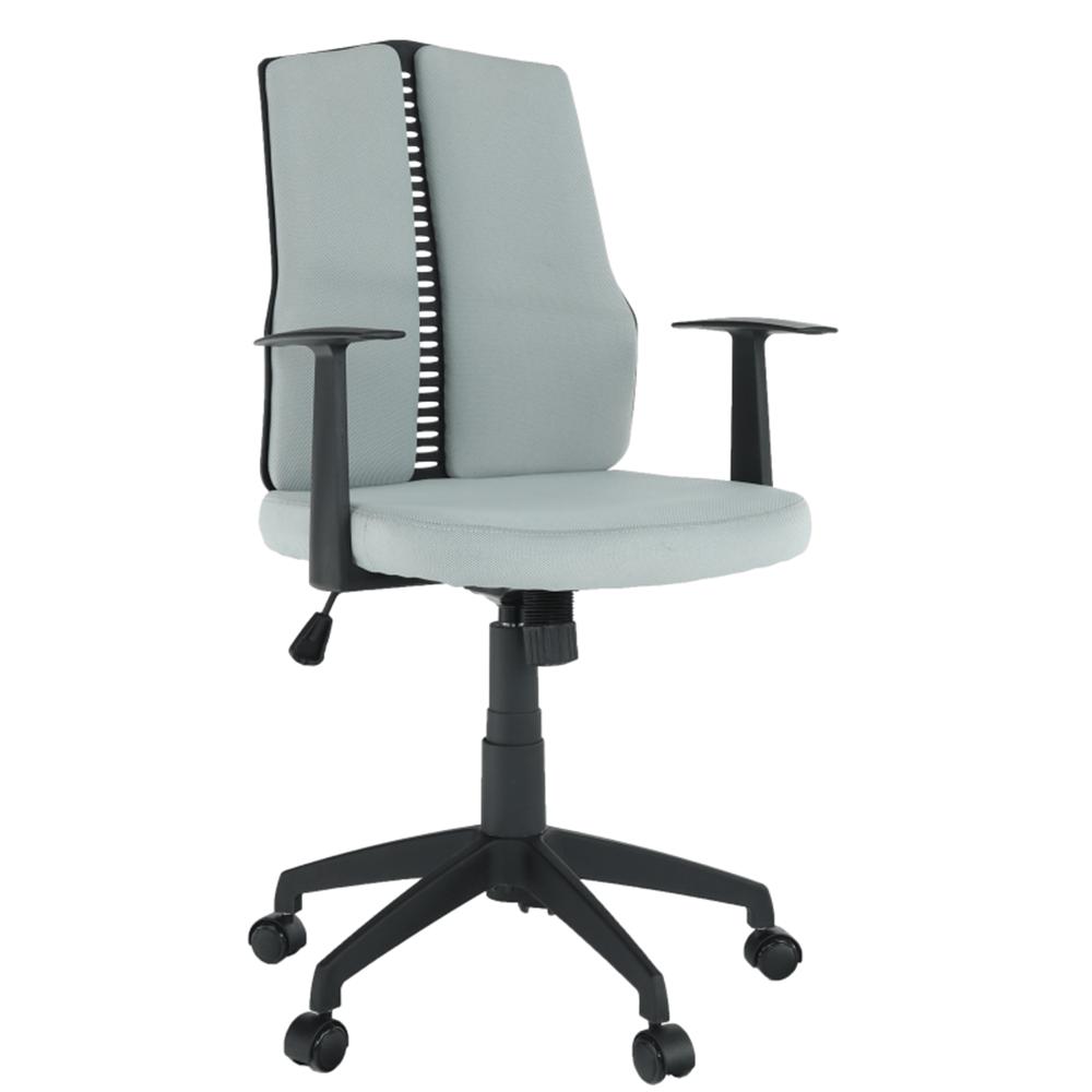 Irodai szék, világosszürke/fekete, DELANO