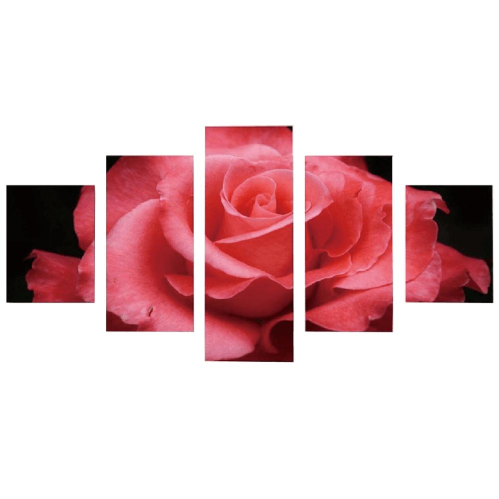 Tablou imprimat pe pânză, multicolor, DX TYP 7 RUŽA