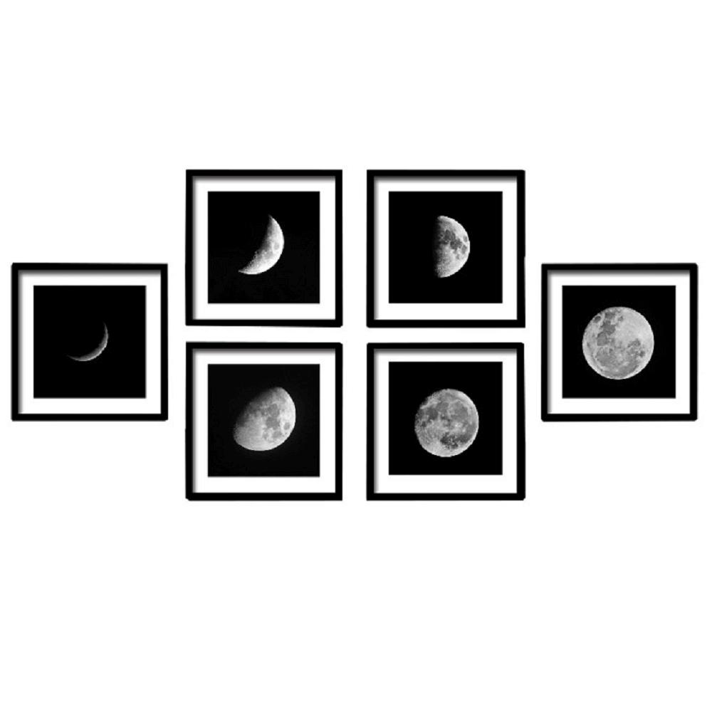Tablou vitrat imprimat, alb/negru, DX TYP 10 MESIAC