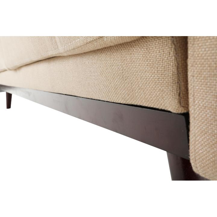 Rozkladacia pohovka, béžová, ARKADIA, detail na sedadlo